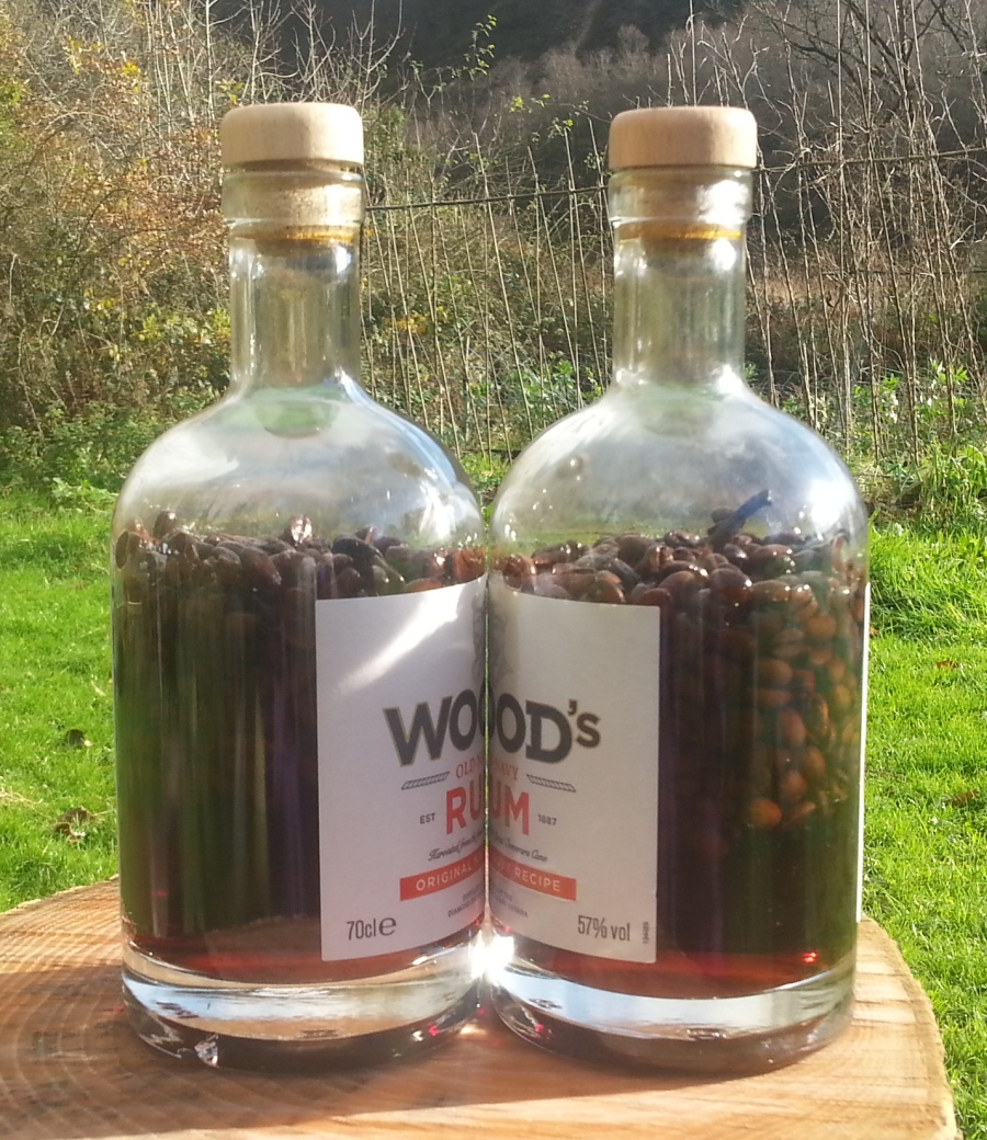 rum with coffee beans